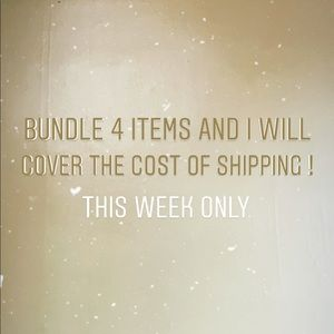 Free shipping with bundle of 4 items